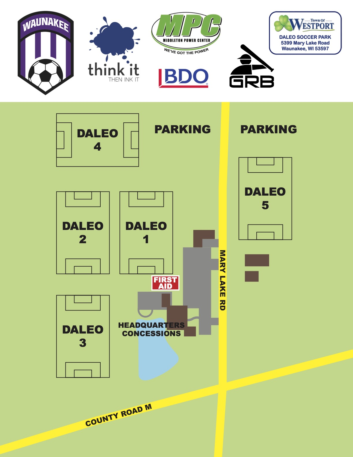 Waunakee Cup- Daleo Field Map